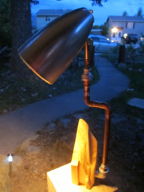Scrap wood and waste copper pipe.