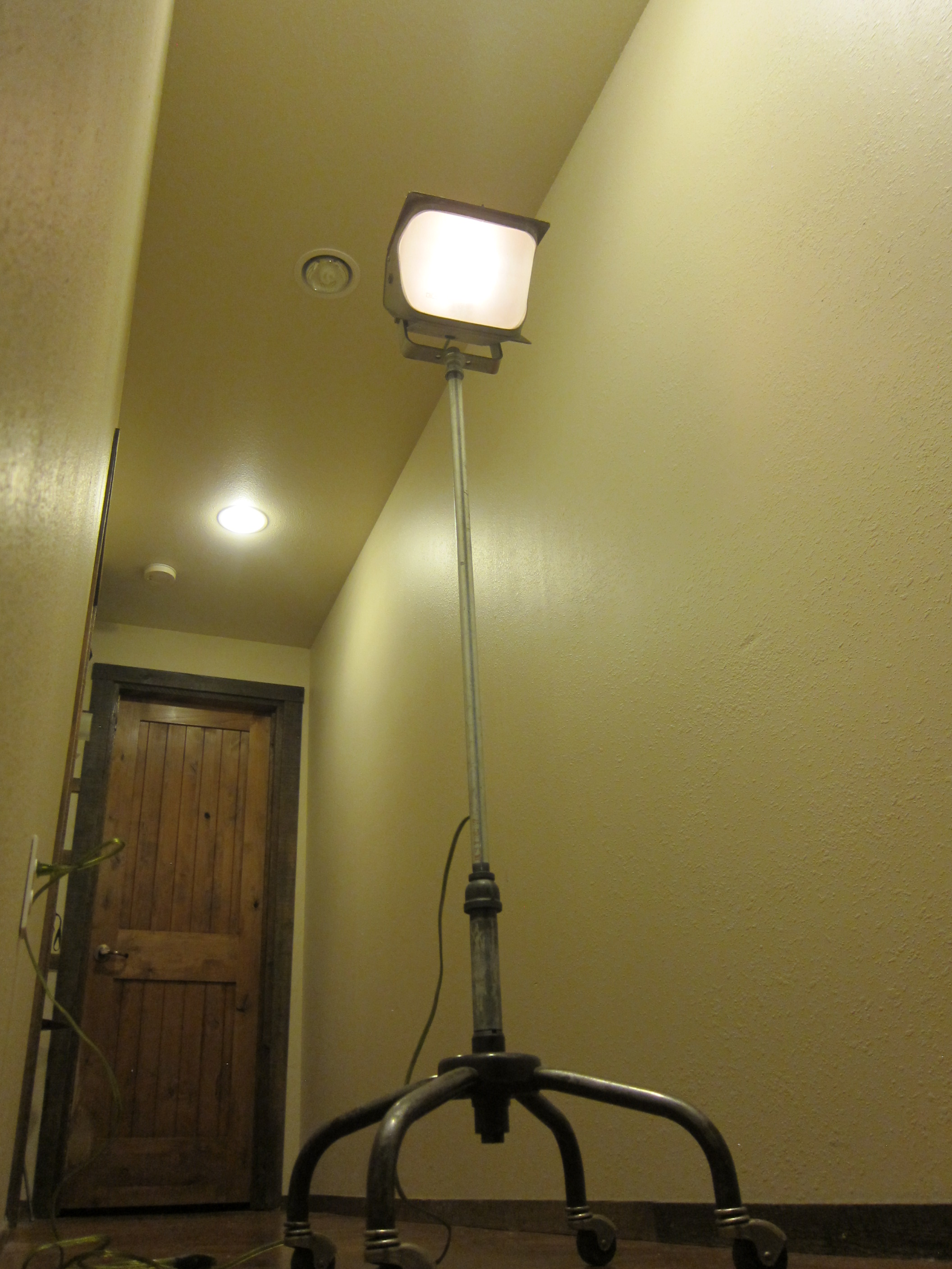 Floor Lamp 5 or What To Do With a Broken Roller Chair